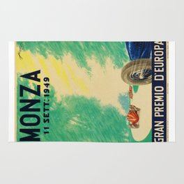 Grand Prix Monza, 1949, Gran Premio Monza, vintage poster Rug