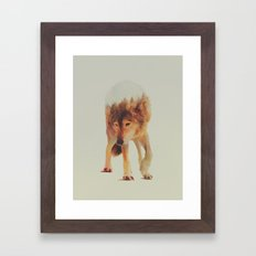 Norwegian Woods: The Grey Wolf Framed Art Print