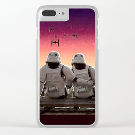 Stormtrooper Companion Clear iPhone Case