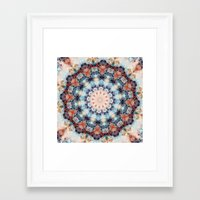 kaleidoscope Framed Art Prints featuring kaleidoscope  by North 10 Creations