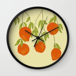 Red Mangoes 1 Wall Clock