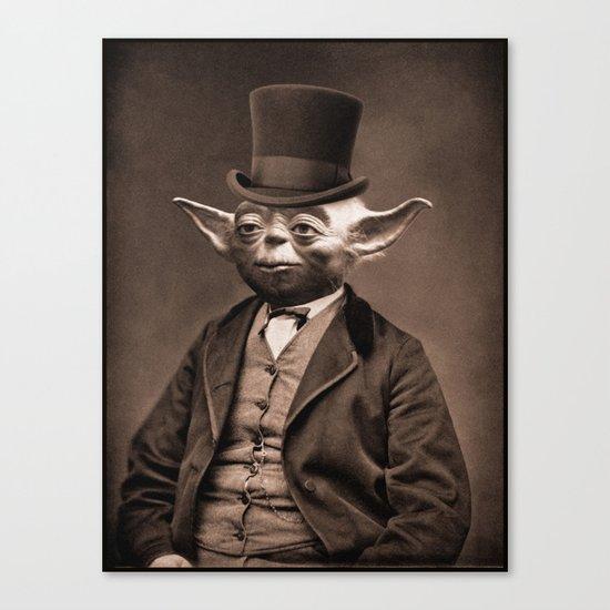 Portrait of Sir Yoda Canvas Print