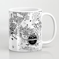 oslo Mugs featuring OSLO by Maps Factory