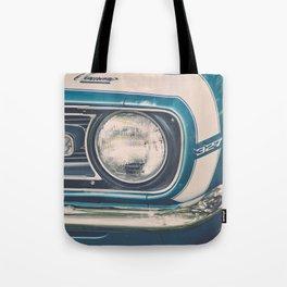 Blue Classic Camaro Tote Bag