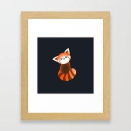 Curious Red Panda Framed Art Print
