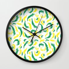 Full Colours green and yellow Summer 2013  Wall Clock