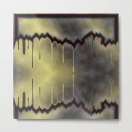 dark, sad, black, shiny, background, copy space, festive, golden, colored, subtly Metal Print