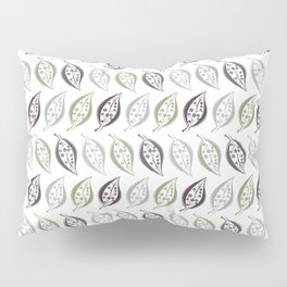 Delicate leaves , fishnet Pillow Sham