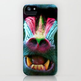 Mandrillus 2 iPhone Case
