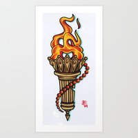 Traditional Torch Art Print