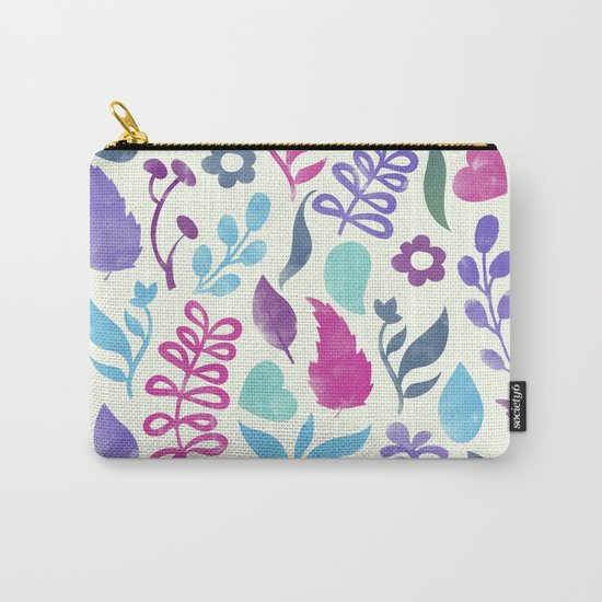 Watercolor Floral Pattern III Carry-All Pouch
