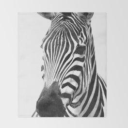 Black and white zebra illustration Throw Blanket