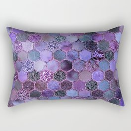 Purple geometric hexagonal elegant & luxury pattern Rectangular Pillow
