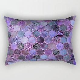 Purple geometric hexagonal elegant & luxury pattern Rectangular Pillow