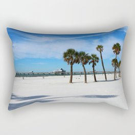 Clearwater Pier And Beach Rectangular Pillow