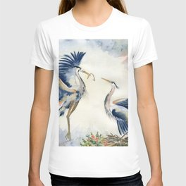 Great Blue Heron Couple T-shirt