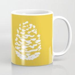 Pinecone Mustard Yellow Kaffeebecher
