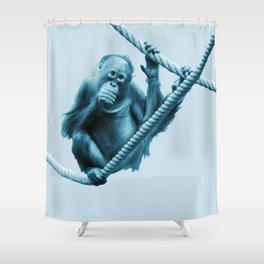 Monochrome - Hanging around Shower Curtain