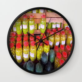 Yellow Preserves  Wall Clock