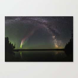 Milky Way and Steve Canvas Print