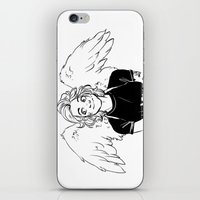 angel wings iPhone & iPod Skins featuring Wings by kendrawcandraw