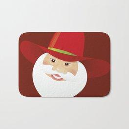 Santa Claus. Cowboy. Bath Mat