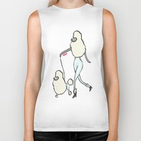 poodle Biker Tanks featuring Proudly Poodle by miba