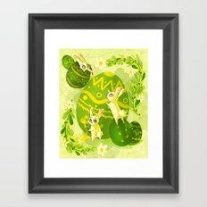 Easter Bunnies Framed Art Print