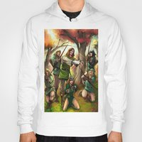 robin hood Hoodies featuring Robin Hood and his Merry Women by Eco Comics