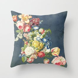 Floral Tribute to Louis McNeice Throw Pillow