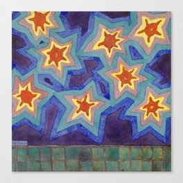 Bright Super Stars Canvas Print