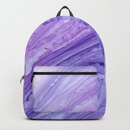 Purple Agate Geode Crystal Slice Backpack