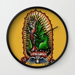 Cat Guadalupano Wall Clock
