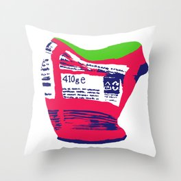 Squashed Can 2 Throw Pillow