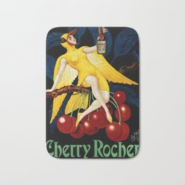 1922 Cherry Rocher Liquor Advertisement Poster by Paul Mohr Bath Mat