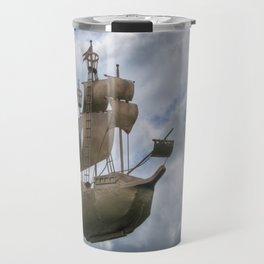 Sailing stormy skies Travel Mug