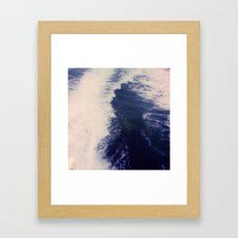 Blue Sea at Ithaka island Greece Framed Art Print