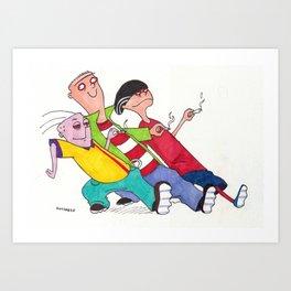 Ed, Edd, and Eddy Strutting Their Stuff Art Print