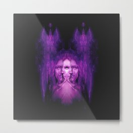 Hemispheres - reloaded - purple Metal Print