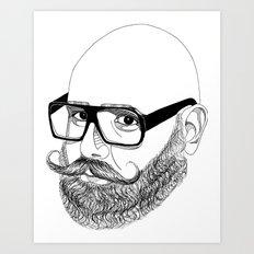 bear'n'roll Art Print