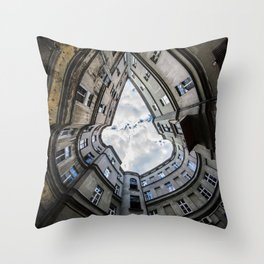 Laying on the ground Throw Pillow