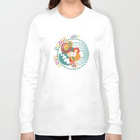 70s Long Sleeve T-shirts featuring 70s Circle  by Louise Machado