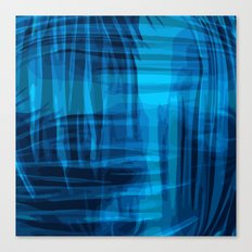 Blue wrinkles Canvas Print