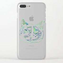 Torti Cat Clear iPhone Case