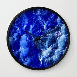 Abstración Océanica Azul Wall Clock
