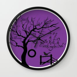 Mockingbird Wall Clock