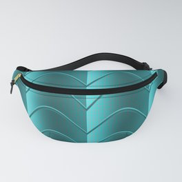 Teal Gradient Fanny Pack