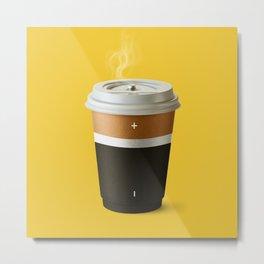 Coffee battery Metal Print