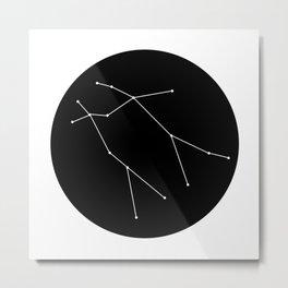 GEMINI (MINIMALIST DESIGN) Metal Print