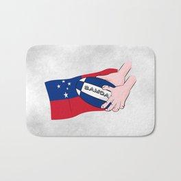 Samoa Rugby Flag Bath Mat